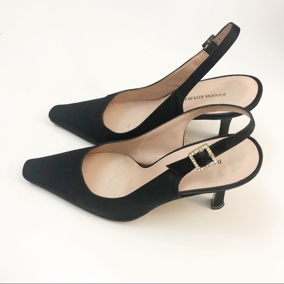 Black heels Banana Republic slingback pumps
